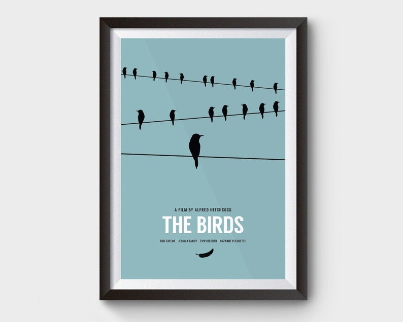 6384c69094d The Birds A3 A4 movie poster film poster minimalist movie