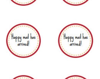 happy mail, happy mail stickers, happy mail has arrived, envelope decorations