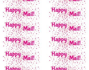 Happy mail stickers, happy mail hearts, happy mail, fun mail