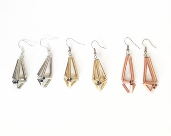 Himmeli Brass Earrings