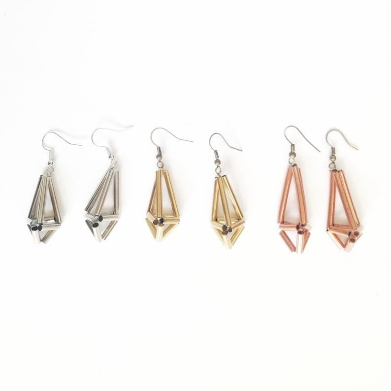 Himmeli Brass Earrings image 1