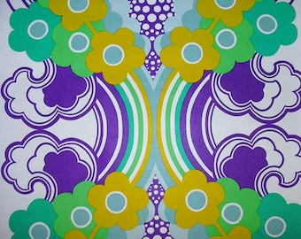 Vintage Pop Art Original Wallpaper 1960s 1970s