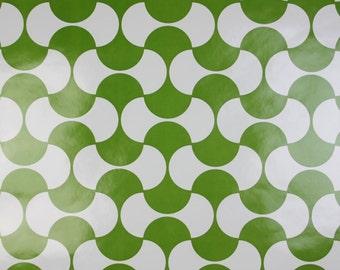 LAST TWO - Geometric Minimalist GREEN Dillyan Vintage Original 1970s 1960s Wallpaper Vinyl