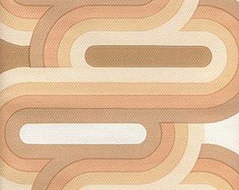 1970s GEOMETRIC MINIMALIST Time Mid Century Modern Wallpaper 1960s