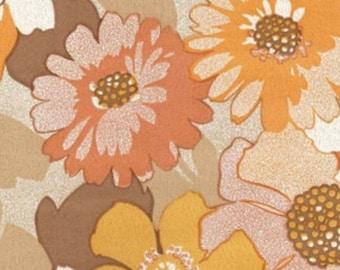 Vintage Original Field of Flowers , Daisies in the Mist Wallpaper 60s 70s Wallpaper