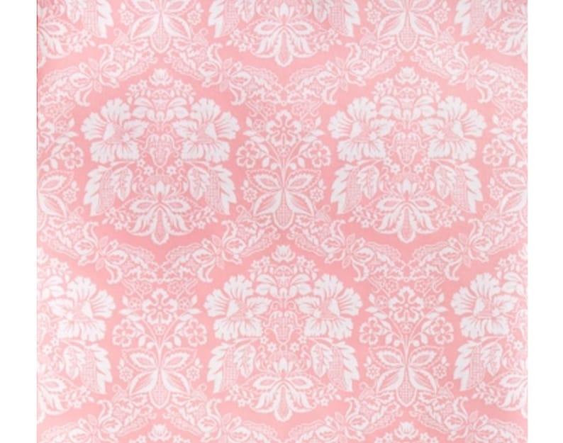 1970s French Dreamy Pink Wallpaper Vintage Original Seventies