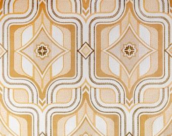 Vintage Original Mitte Jahrhundert Modernen Geometrischen Labyrinth Tapete  60er Jahre 70er Jahre