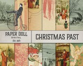 Vintage Christmas Digital Paper - Victorian Christmas Scrapbooking - Victorian Junk Journal - Instant Download - 12 Sheets