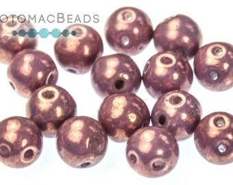 Chalk White Lila Vega Luster 50pcs Flower Bell Beads 4x6 mm 4BEL003 Czech Glass