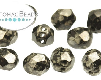 Faceted RounTrio\u00ae Beads Pack of 300 Copper 6mm