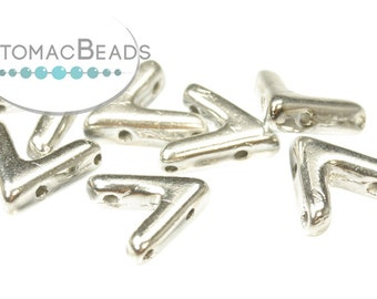 AVA\u00ae Beads Aluminum Silver 10x4mm Factory Pack of 100