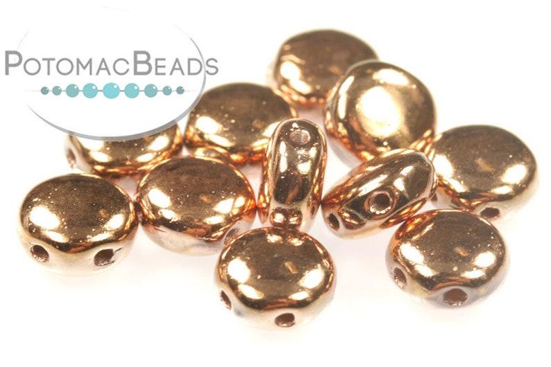 Crystal Capri Gold Full 6mm DiscDuo\u00ae Bead Factory Pack of 300