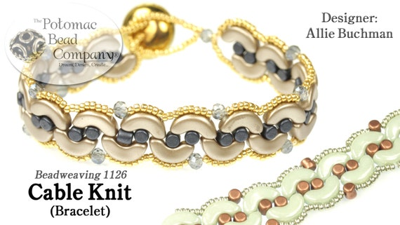 Cable Knit Bracelet Pattern Etsy