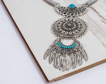 The Blue Bohemian Beauty Statement Necklace