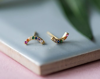 Lifes A Rainbow Gold & Silver Earrings