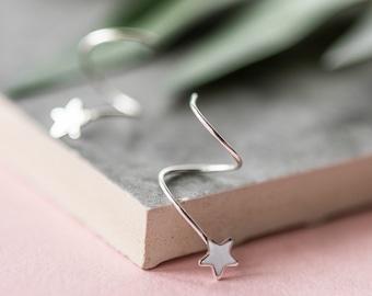 Sterling Silver Shooting Star Earrings