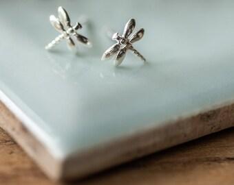 Sterling Silver Dragon Fly Earrings
