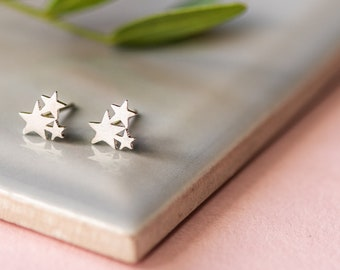 Wish Upon A Star Silver Stud Earrings