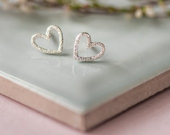 Love Heart Silver Earrings