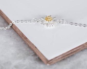 Sterling Silver Daisy Bracelet