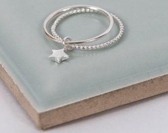 Sterling Silver Twinkle Little Star Midi Ring