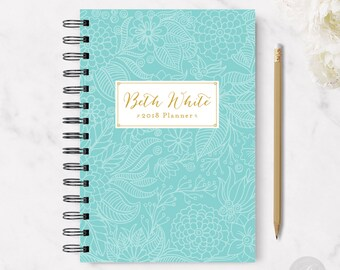 2018 Monthly Planner #1 - Hardcover - Coil Bound - Tabbed - Weekly Planner - Daily Planner