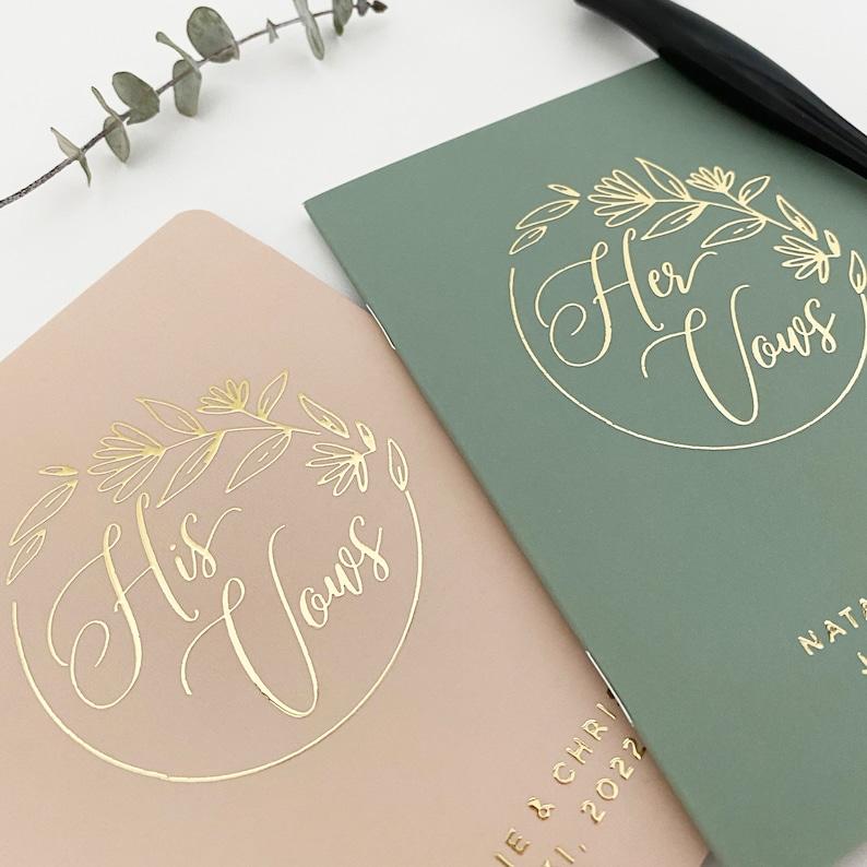 Groom Vow Book Rose Gold Silver Foil Real Foil Wedding Vow Book #11 Bride Vow Book Wedding Vow Book Set Gold Bride and Groom Vows