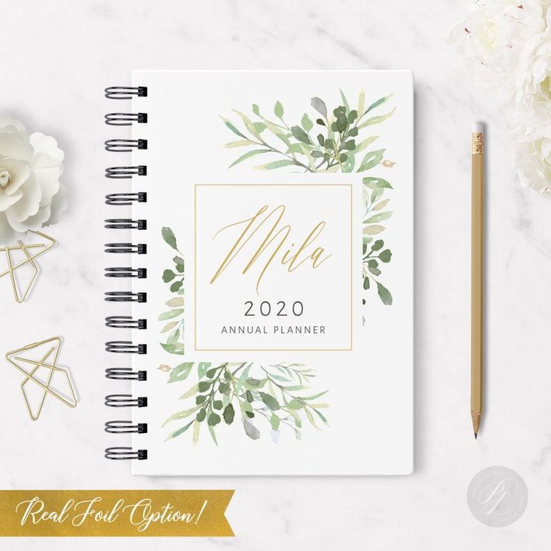 2020 Monthly Planner 58  Hardcover  Coil Bound  Tabbed  image 0