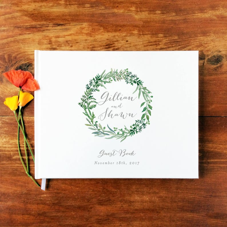 Wedding Guest Book Landscape 13  Hardcover  Wedding image 0