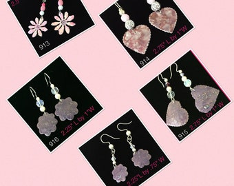 Fashion Earrings Handmade item # 713- 717 ( Wire Ear Or Clip On's Closure)