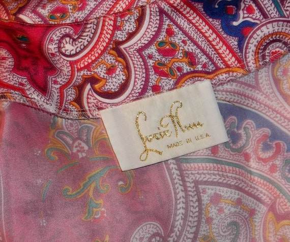 Lucie Ann Long Nightgown Loungewear Robe Red Pink… - image 8