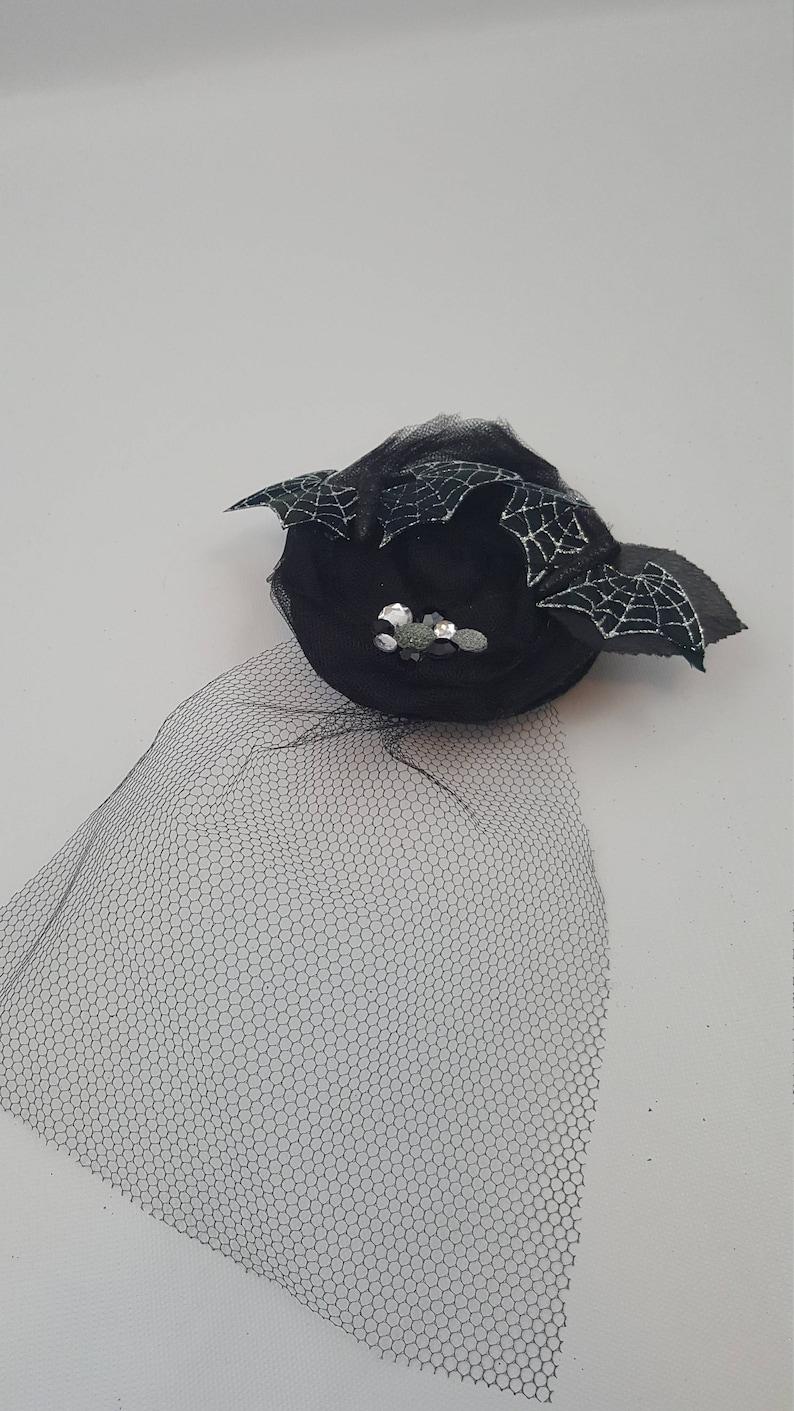 Glitter Bats Halloween Headband Halloween Fascinator Veil Fascinator Silver Bats Fascinator Veil Headband Bat Headband Bat Fascinator