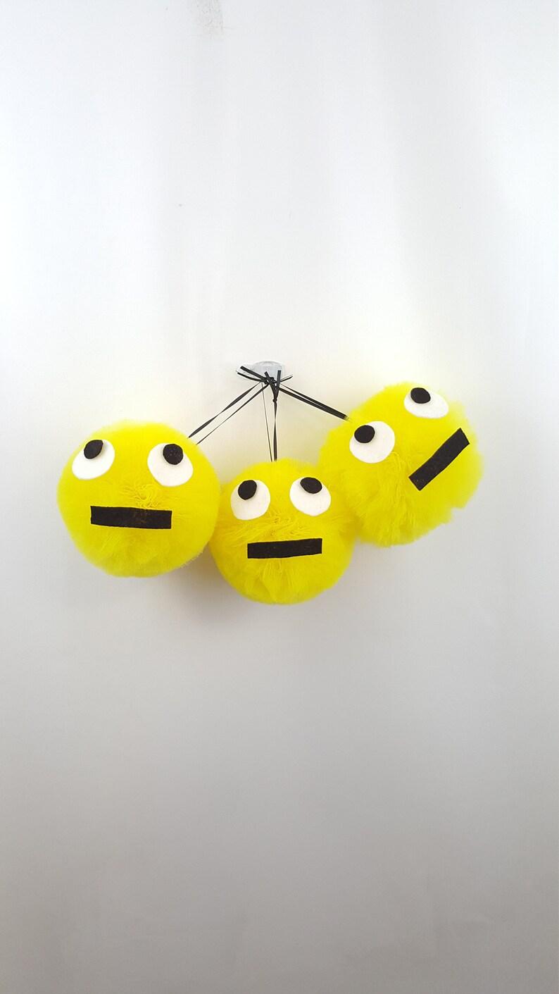 Eye Roll Emoji Pom Set Tulle Party Decor