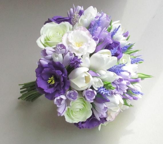 Freesie Eustoma Tulpe Rose Lavendel Brautstrauss Flieder Etsy