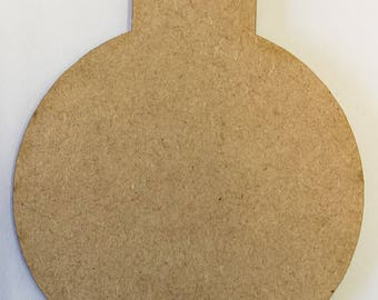 Christmas Traditional Bauble MDF Shape - 3mm Lasercut - 4 Sizes Available