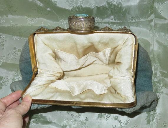 RARE Antique Pill Box Handbag Purse with Hinged P… - image 3