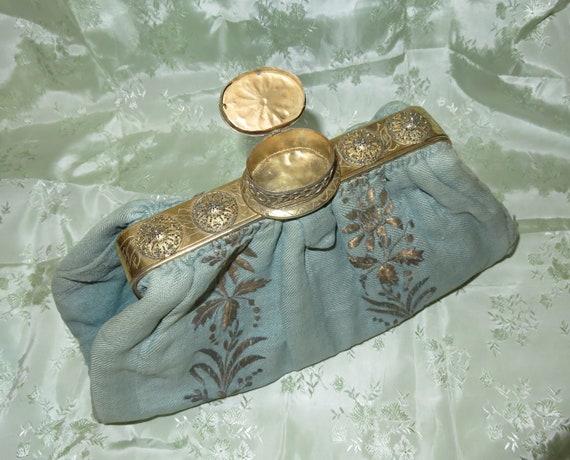 RARE Antique Pill Box Handbag Purse with Hinged P… - image 1