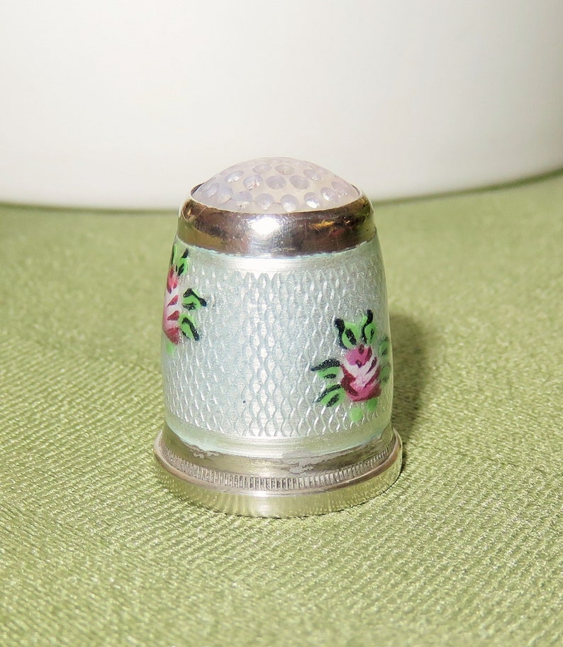 Garden Rose  Aroma Thimble with Rose Fragrance Gift Collectible Thimble
