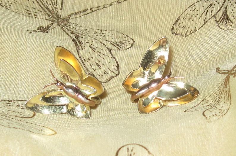 d3088cd4cc531 Vintage Sterling Silver   Gilt Monet Butterfly Earrings