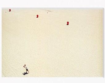 Santa Cruz Beach Boardwalk, California, Art Photography, Beach, Ocean, Nostalgia, Childhood, Summer Decor, 35mm Film, Aerial (Unframed)