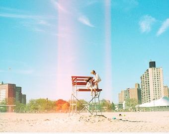 Coney Island, Brooklyn, Beach Photography, Coastal Ocean Decor, East Coast Photo, Nostalgia, 35mm Film, New York City, NYC (Unframed)
