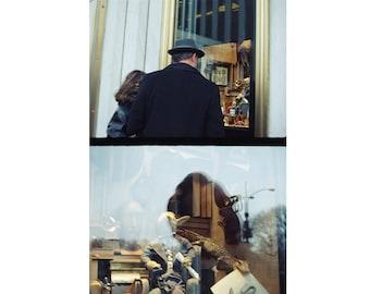 Manhattan Winter Window Display, 5th Avenue, Holiday Christmas, Diptych, Mid Century Modern, 35mm Film, New York City, NYC (Unframed)