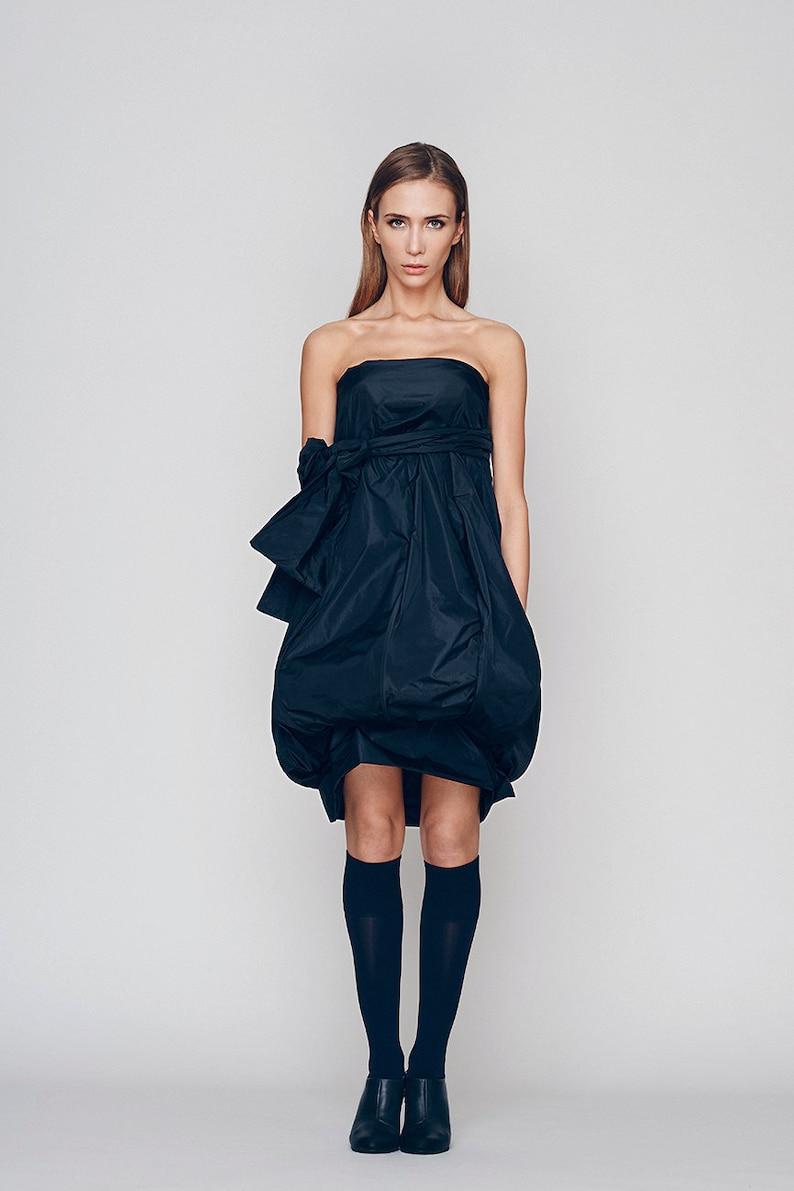 Women Navy Dress Midi Dress Strapless Dress Plus Size | Etsy