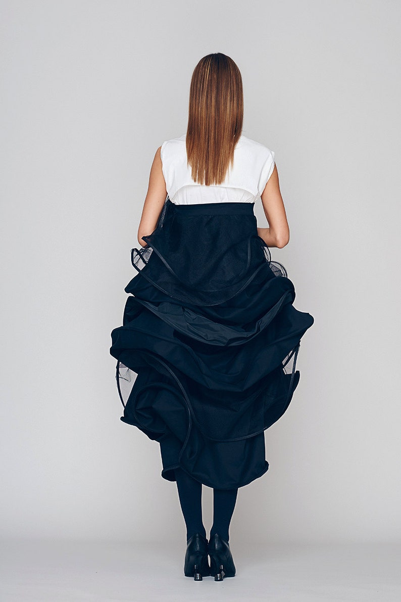 Oversize Dress Prom Dress Black Midi Dress Dress For Women Drape Dress Strapless Dress Multiway Dress Layered Dress Cocktail Dress