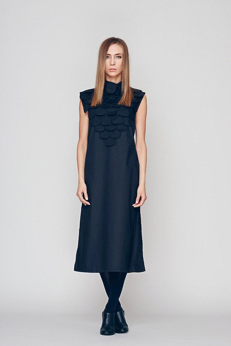 93256ad26e7ebd Frauen Marine Kleid MIDI-Kleid Cocktailkleid eine Linie | Etsy