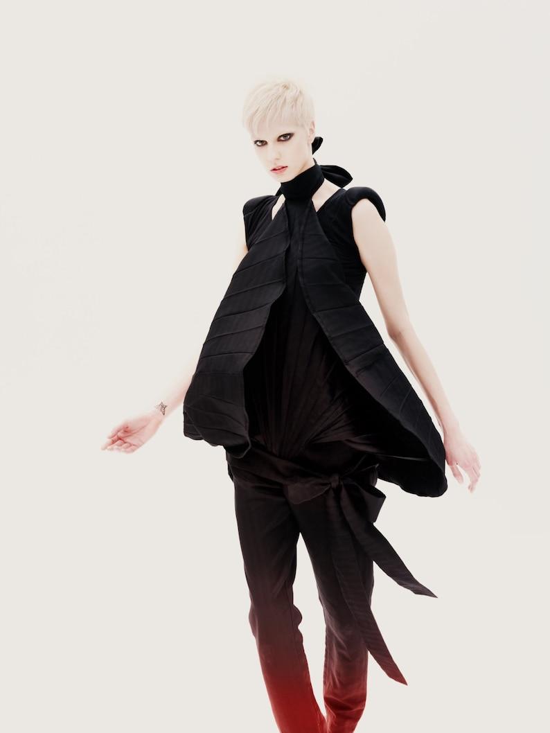 Deconstructed Clothing Futuristic Clothing Avant Garde Pants Plus Size Pants Women Harem Pants Black Jumpsuit Pants Black Pants