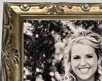 Vintage Wedding Frame,Silver Wedding Frame,Wedding Photo Frame,Bride Frame,Bride Picture Frame,8x10 Silver,5x7 Silver,11x14 Silver,4x6 Frame