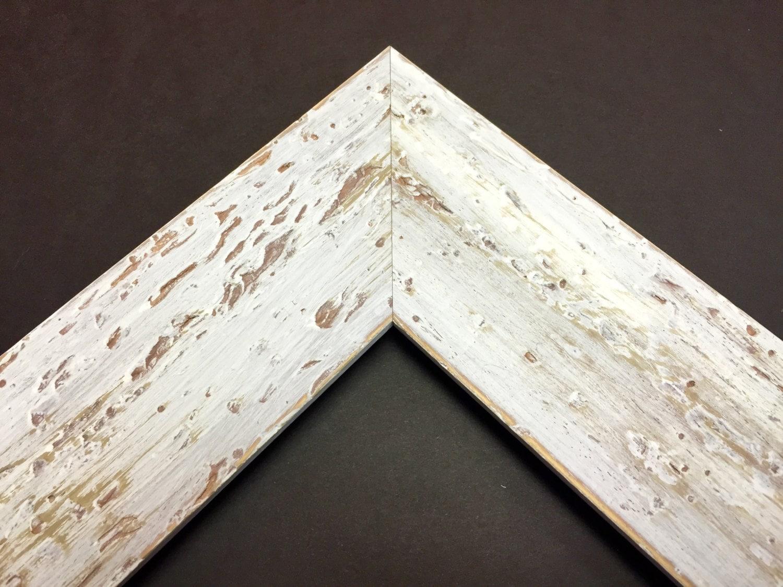 White Farmhouse Frame White Distressed Frame White Rustic Frame