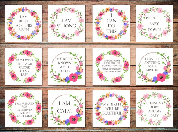 Pregnancy Baby Showers Gift Hypnobirthing Positive Birth Affirmation Cards