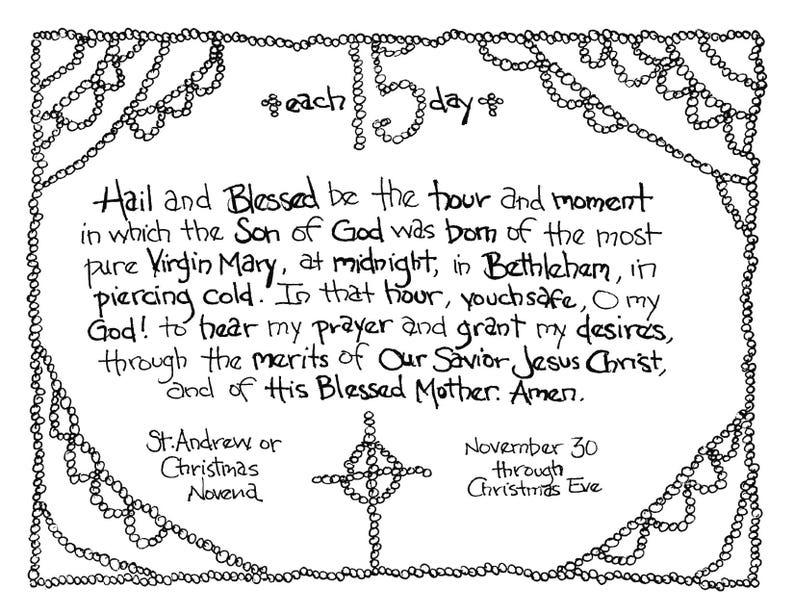 image regarding St Andrew Novena Printable identify Printable St Andrew Novena (Xmas Anticipation Novena) Prayer Artwork Coloring Site for All Ages!
